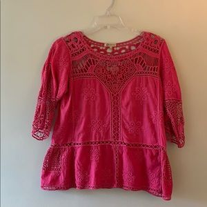 Pink Lacey detail top